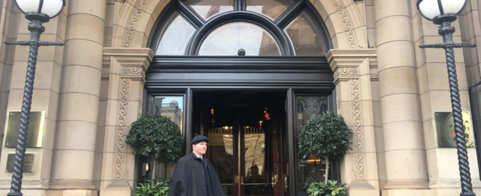 This five star property sits atop Waverley Station, Edinburgh, Scotland's main train station. It's well known for its clock tower, which is visible from almost anywhere in Edinburgh, and its kilted doormen who also ... Not to be confused with Balmoral Castle, the hotel is certainly fit for a Half-Blood Prince...